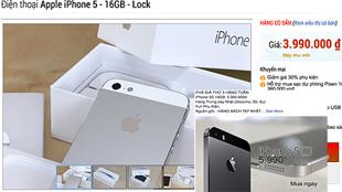 iPhone 5, 5s khoá mạng giá rẻ tràn về Việt Nam