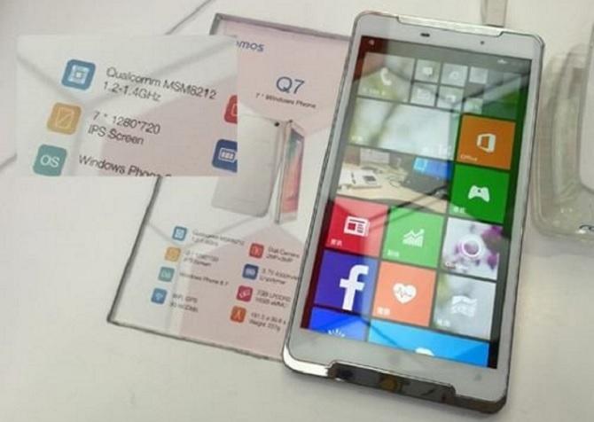 Q7 Ramos điện thoại Windows Phone màn hình khổng lồ 7 inch