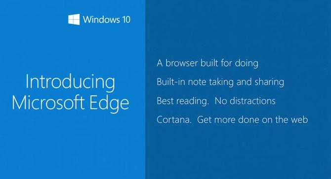 Microsoft chính thức trình làng trình duyệt Microsoft Edge