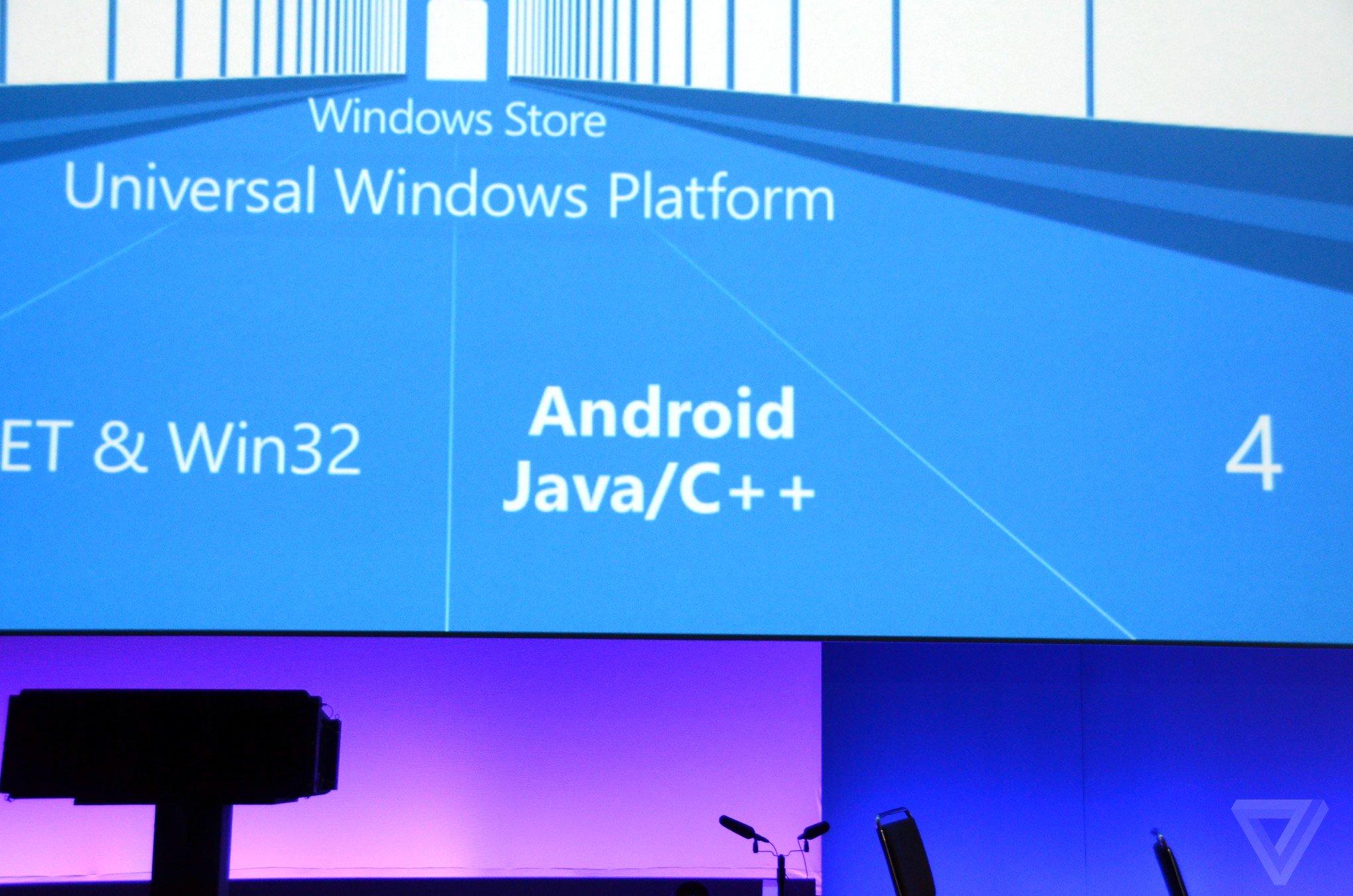 Windows 10 runs Android app