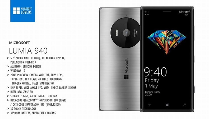Lumia 940 và Lumia 940 XL lộ diện hình ảnh, cấu hình trước ngày công bố