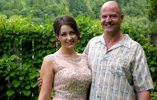 Emily Janzen with father