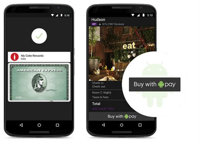 Android Pay sẽ được tích hợp trên Android, xử lý thanh toán qua NFC