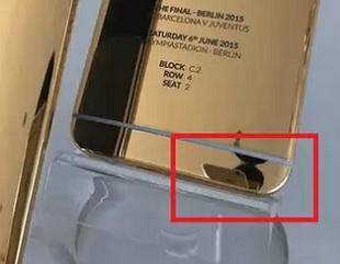 HTC đăng ảnh One M9 mạ vàng chụp từ iPhone 6