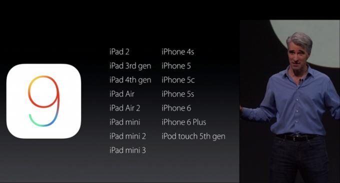 iOS 9 hỗ trợ cả iPad 2 và iPhone 4s - VnReview - Tin nóng
