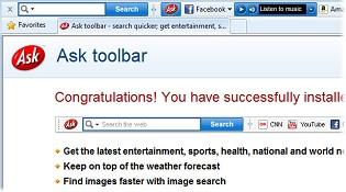 Ask toolbar bị Microsoft liệt vào danh sách phần mềm độc hại