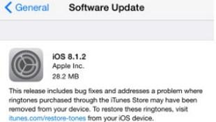 Apple ra bản cập nhật iOS 8.1.2 khắc phục lỗi tự xóa nhạc chuông