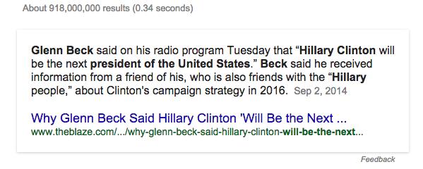 Tuyên bố này không phải do các vị CEO hay chủ tịch của Google đưa ra, mà là một câu trả lời cho tính năng tìm kiếm câu hỏi của Google.