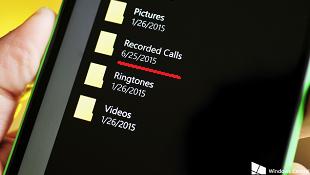 Windows 10 Mobile build 10149 bổ sung tính năng ghi âm cuộc gọi