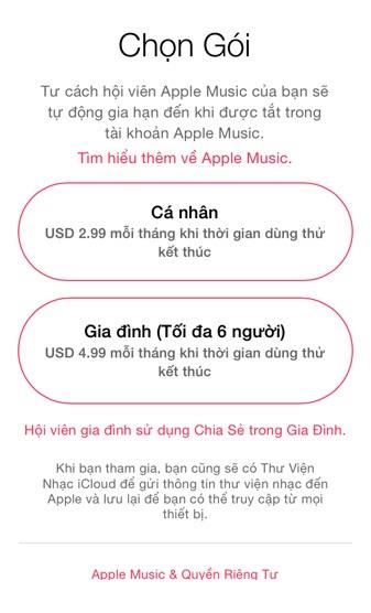 Là dịch vụ phát nhạc trực tuyến cao cấp đầu tiên có mặt tại Việt Nam, Apple Music thực sự chinh phục được người dùng nhờ chất lượng âm nhạc và mức giá ưu đãi đặc biệt cho người Việt.