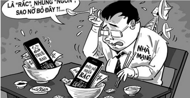 Khó chặn tin nhắn rác khi nhà mạng làm ngơ