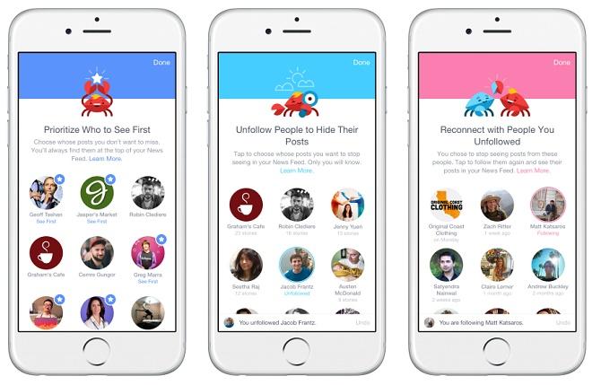 Facebook cho phép chọn bạn bè ưu tiên trên News Feed