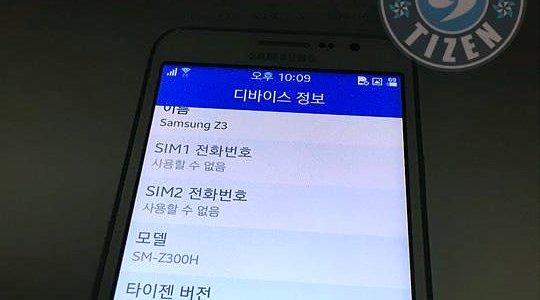 Lộ diện những hình ảnh đầu tiên của Samsung Z3 nền Tizen
