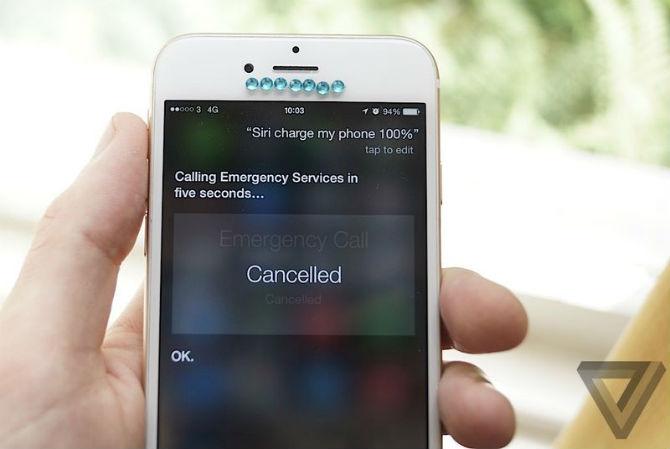 Siri gặp lỗi tự động gọi số khẩn cấp khi người dùng ra lệnh sạc iPhone
