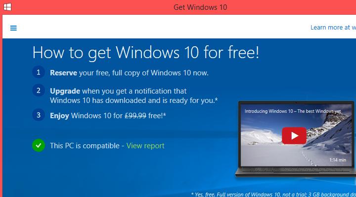Microsoft 'lặng lẽ' gửi Windows 10 đến tay người dùng
