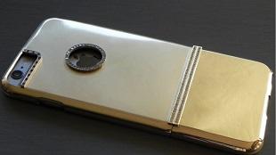 Case iPhone 6 Plus làm từ vàng đặc, nạm kim cương