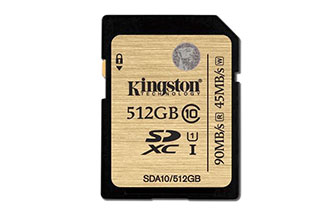 Kingston ra mắt thẻ nhớ SDHC/SDXC UHS-I Class 10 dung lượng 512GB