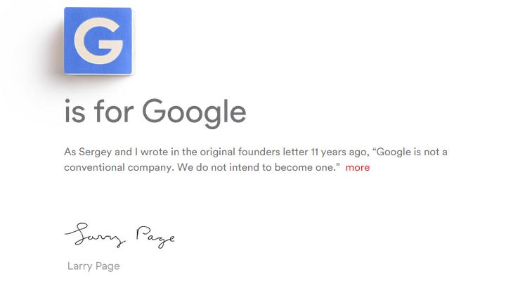 Google lập Alphabet, nhưng không sở hữu Alphabet.com