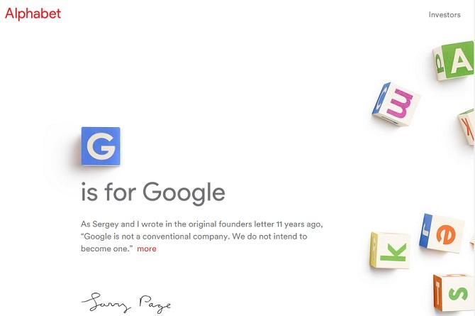Tuyên bố của Google về việc tái cơ cấu và thành lập công ty mẹ Alphabet chắc chắn sẽ là một trong những sự kiện đáng chú ý nhất của làng công nghệ 2015. Ngay lập tức, đối thủ lớn nhất của Google đã có phản ứng hài hước đầu tiên.