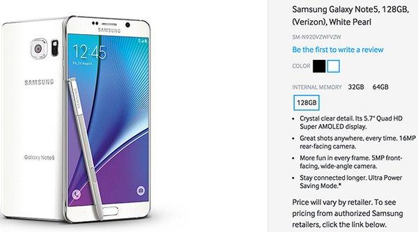 Galaxy S6 edge+ và Note 5 vẫn có phiên bản 128 GB?