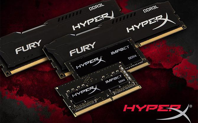HyperX ra mắt thêm RAM mới thuộc dòng FURY và Impact