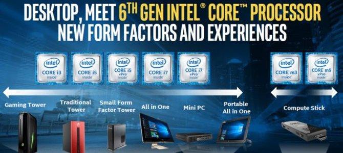 Intel mở rộng binh đoàn chip Skylake cho cả PC và di động