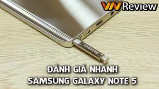 Video đánh giá nhanh Samsung Galaxy Note 5 chính hãng