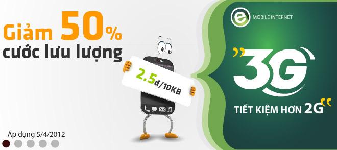 Viettel tăng lưu lượng miễn phí, giảm 50% cước 3G vượt mức