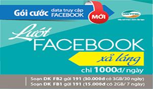 Viettel ra gói cước Facebook dung lượng lớn giá rẻ