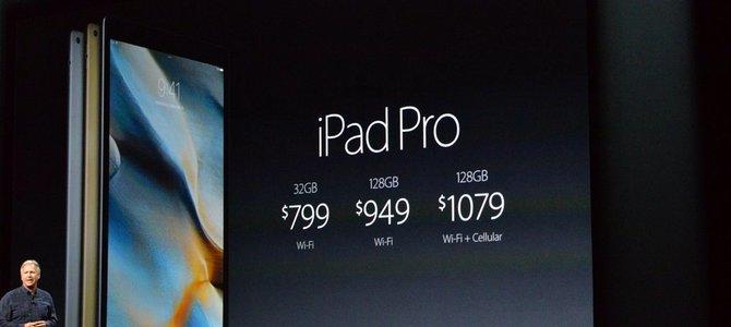 Apple iPad Pro ra mắt: màn 12.9 inch, chip A9X, giá từ 799 USD