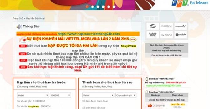 Để dẫn dụ người dùng truy cập, kẻ xấu đưa ra liên kết dẫn tới trang giả mạo kèm theo lời chào mời về khuyến mãi