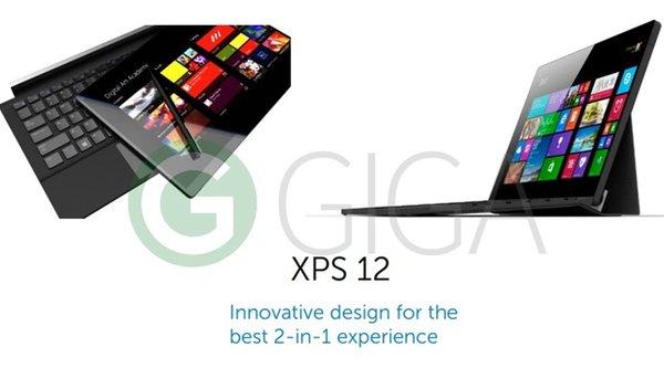 Rò rỉ Dell XPS 12 mẫu mới, 'bản sao' từ Microsoft Surface?