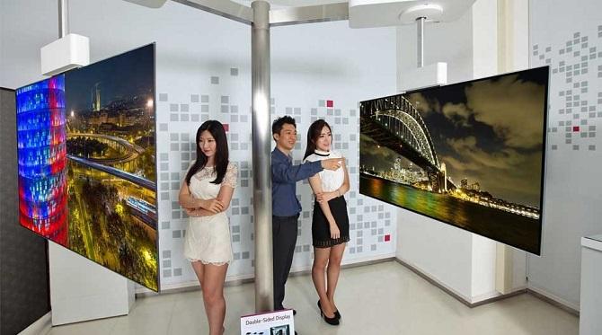 Tivi màn hình cong 2 mặt của LG