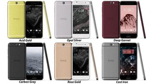 HTC One A9 lộ diện các màu sắc, có phiên bản vàng hồng