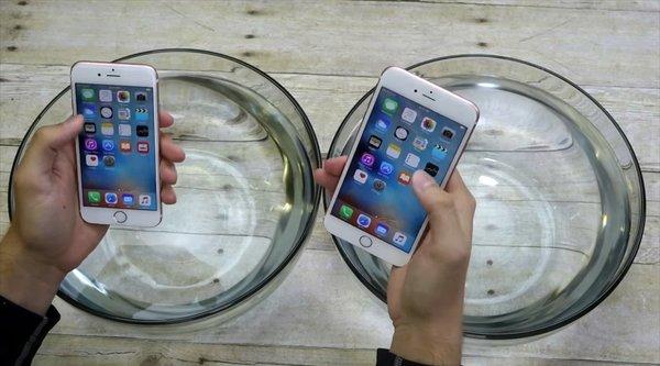 Video ngâm nước bộ đôi iPhone 6s và 6s Plus