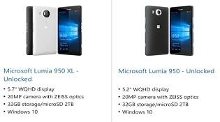 Lumia 950 và 950 XL xuất hiện trên website Microsoft