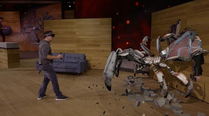 Kính thực tế ảo HoloLens bán ra quý 1/2016, giá 3000 USD