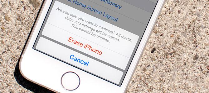 Cách xóa toàn bộ dữ liệu cá nhân khỏi iPhone