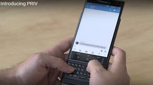Video chính thức BlackBerry Priv: Điểm nhấn phím vật lý