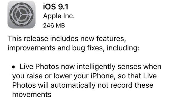 Apple phát hành iOS 9.1