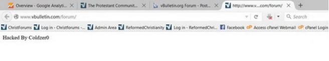 Thông điệp hacker để lại sau khi tấn công diễn đàn vBulletin.com rạng sáng ngày 1-11 - Ảnh: vBulletin.org/shimei