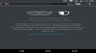 Firefox trên di động cho phép duyệt web ẩn danh