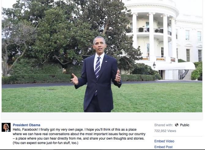 Obama chính thức có fanpage Facebook
