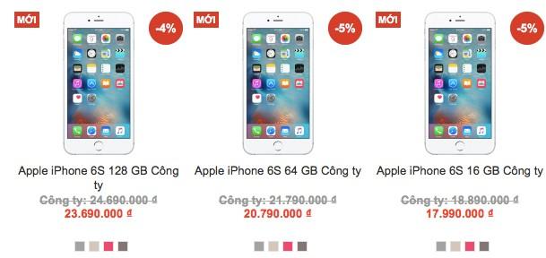 Nhiều nơi phá giá iPhone 6s chính hãng