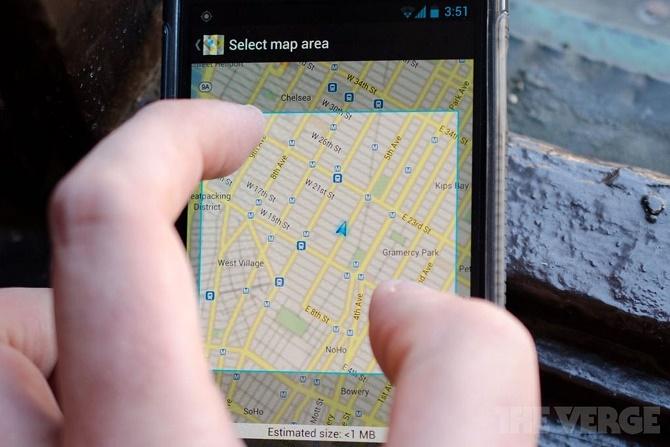 Nửa năm sau khi được công bố tại sự kiện I/O của Google, tính năng tìm kiếm địa chỉ và định tuyến không cần kết nối mạng mới được đưa lên ứng dụng Android của Google Maps.+
