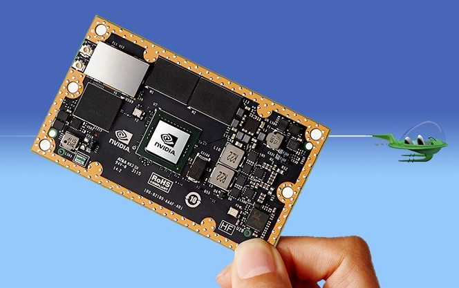 Hiệu năng của chip Jetson TX1 mới được NVIDIA ra mắt thậm chí còn cao hơn cả chip Core i7 Sylake của Intel.  Với tham vọng thâu tóm các nhà phát triển công nghệ machine learning (máy học), NVIDIA vừa ra mắt bảng mạch Jetson TX1 với chip Tegra X1 tích hợp. Theo tuyên bố của công ty, trong một vài tác vụ máy học đòi hỏi đầu và các phép tính toán động, ví dụ như drone tự lái, nhận diện khuôn mặt và phân tích hành vi, Jetson TX1 sẽ đánh bại cả chip Intel Core i7 6700K. TX1 gần như giống hệt SoC 8 nhân 64-bit ARM được sử dụng trên chiếc Shield Android TV, bao gồm 4 nhân A57 có bộ nhớ L2 2MB và 4 nhân A53 có bộ nhớ L2 512KB cùng một bộ GPU Maxwell có khả năng xử lý lên tới 1 teraflop. Sự khác biệt lớn nhất trên TX1 là dung lượng RAM đã được đẩy lên mức 4GB LPDD4 với băng thông 25.6GB/s. Khác với người tiền nhiệm TK1, TX1 được chia ra làm 2 phần: một module kích cỡ ngang bằng thẻ tín dụng có gắn chip SoC trên giao tiếp 400 chân và một bo mạch đầu ra/đầu vào. Bảng mạch này sẽ hỗ trợ các kết nối như Gigabit Ethernet, 802.11ac 2x2 Wi-Fi, HDMI, USB, M.2, , kết nối camera 5MP và 4 cổng PCIe 2.0.  Bộ module chip sẽ tiêu thụ 10W trong khi toàn bộ bảng mạch đầy đủ sẽ có đầu vào 3.3 volt. Ý tưởng của NVIDIA là các nhà phát triển muốn tập trung vào phát triển phần mềm và linh kiện có thể mua một bộ TX1 đầy đủ, còn những người muốn phát triển công nghệ tích hợp chỉ cần mua module chip. Sức mạnh xử lý machine learning ấn tượng của TX1 là nhờ có chip GPU vốn có khả năng xử lý song song khá tốt – một yếu tố bắt buộc của các mạng tư duy và hệ thống máy học. Trong khi hiệu năng thực tế của GPU trên TX1 thấp hơn một chút so với hiệu năng GPU tích hợp của chip Core i7, tỷ suất hiệu năng/watt của dòng GPU này lại cao gấp 5 lần con số trên i7-6700K. Bộ bảng mạch TX1 đầy đủ sẽ được cài đặt sẵn Ubuntu 14.04 LTS và Linux 4 Tegra cũng như các thư viện đồ họa OpenGL và OpenGL ES. Đáng tiếc là giải pháp machine learning của NVIDIA có giá thành không hề rẻ: bảng mạch đầy đủ có giá bán lẻ 600 USD (kh