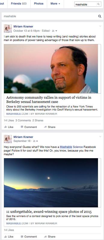 Facebook thử nghiệm tìm kiếm trong trang cá nhân