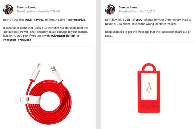 Kỹ sư Google chỉ trích cáp USB Type C của OnePlus