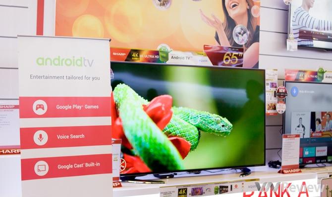 """Sharp ra mắt loạt TV AQUOS 4K chạy Android, """"hiểu tiếng Việt"""""""