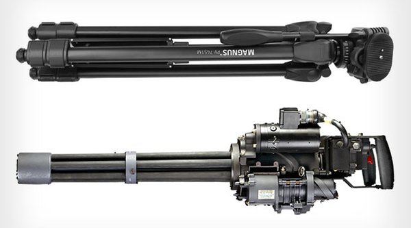 Bị nhầm là khủng bố vì chân máy ảnh giống súng máy hạng nặng!